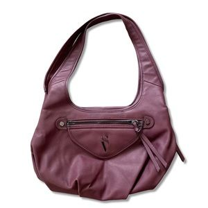 Simply Vera By Vera Wang Burgundy Hobo Handbag